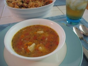... what I'd planned to serve for Super Bowl Sunday: Cajun Jambalaya