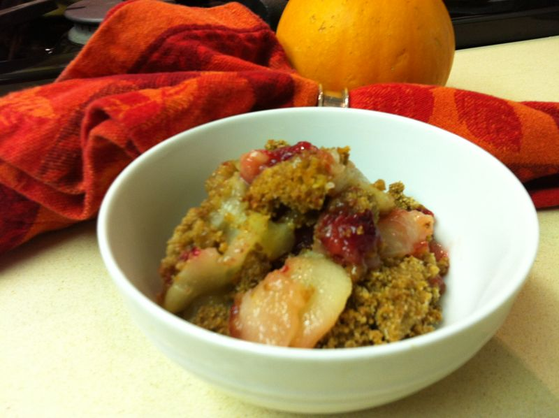 Pear, Cranberry and Gingersnap Crumble « Elizabeth Cooks