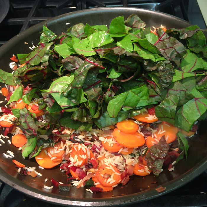 Braised Chard, Carrots and Rice_3