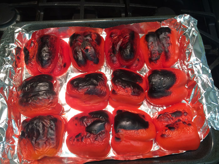 roasting red peppers_2
